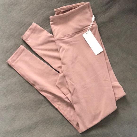 8a5224e1063e9 Saski Collection Dusty Pink High Waist Leggings